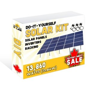 Solar Panels Ground Mount Kit 13860W